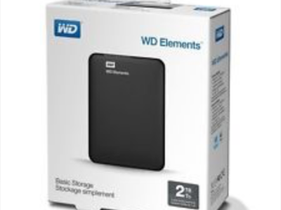 WD 2TB Elements 2.5″ Portable Drive – Black